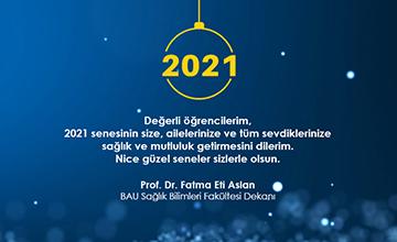 Dekanımızdan Öğrencilerimize Yeni Yıl Mesajı