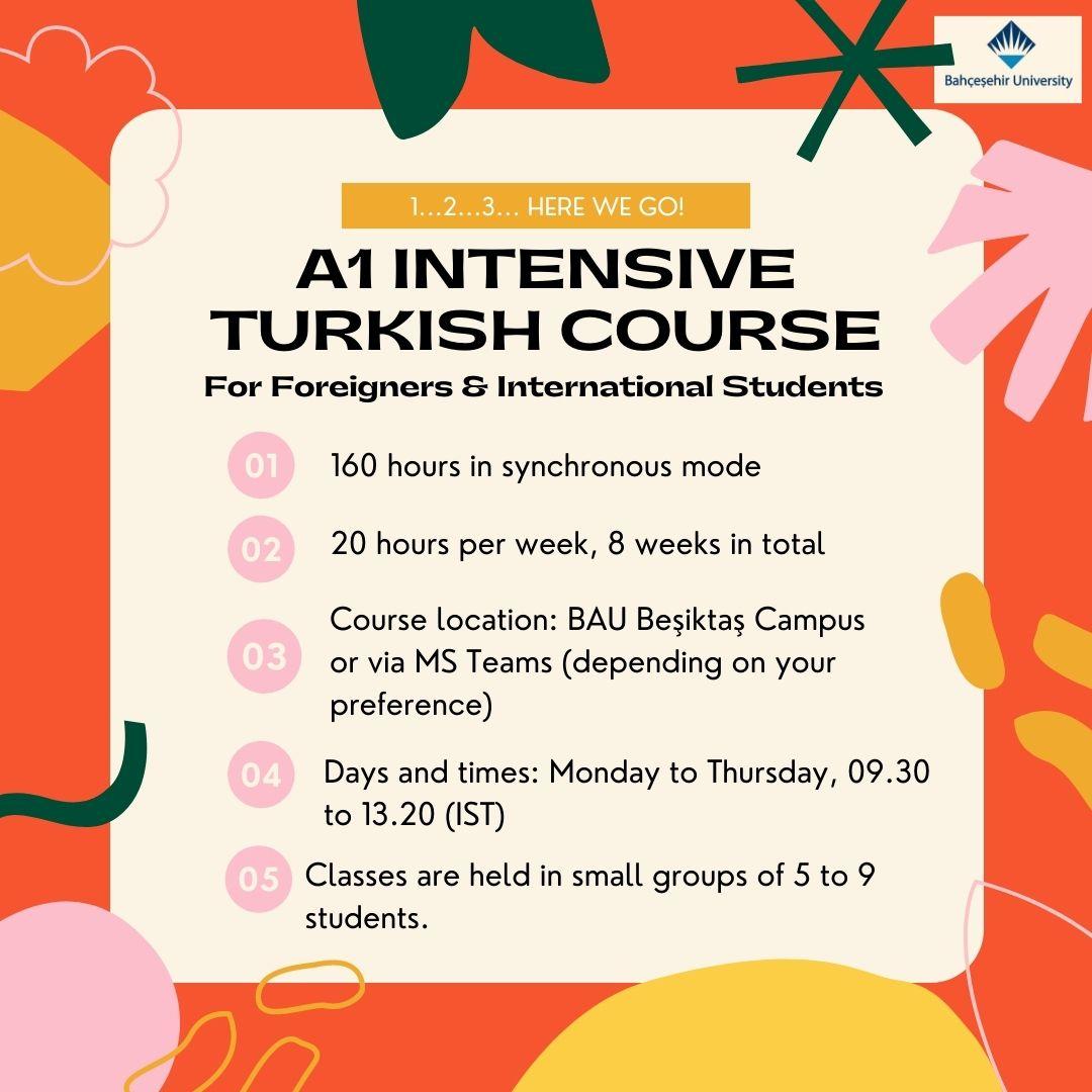 A1 Seviyesi Türkçe-Gündüz Kursumuz Başlıyor